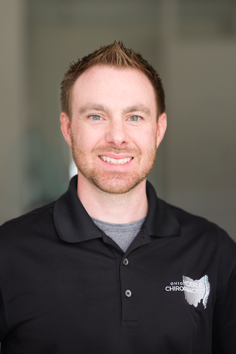 Business headshot of the owner of Ohio Mobile Chiropractic.